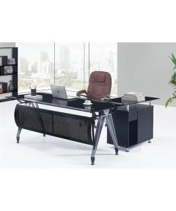 Conjunto de oficina compuesto de Mesa de 180 cms y Mueble ala - BASILEA-DNE