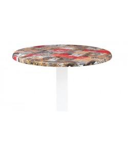 Tablero de mesa Werzalit Alemania, BABYLON 213, 70 cms de diámetro*.