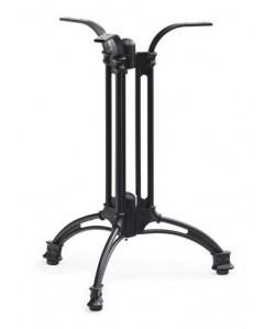 Base de mesa EIFFEL NEW, aluminio, 3 pies, negra, altura 70 cms