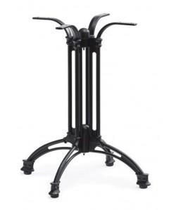 Base de mesa EIFFEL NEW, aluminio, 4 pies, negra, altura 70 cms