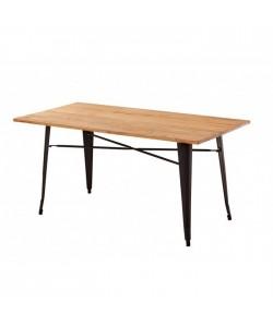 Mesa TOL, acero, negra, madera, 120x80 cms