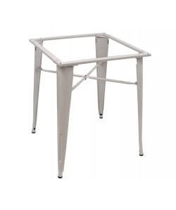 Base de mesa TOL, blanca, para tapa de 80x80 cms