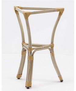 Base de mesa ACAPULCO, aluminio, 3 pies, acabado bambú beige