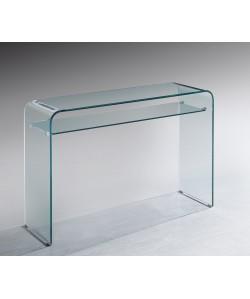 Consola MERYL, cristal curvado, 110x35 cms