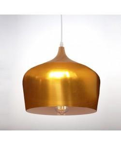 Lámpara CROCK, colgante, metal, pantalla dorada