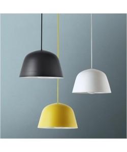 Lámpara ADINA, colgante, metal, color amarillo