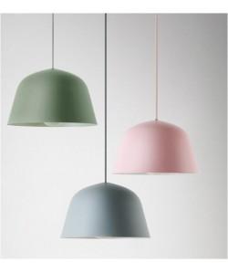 Lámpara ADINA, colgante, metal, color rosa