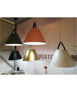 Lámpara KEILA, colgante, metal, color naranja