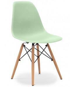 Silla TOWER PP, madera, polipropileno verde menta