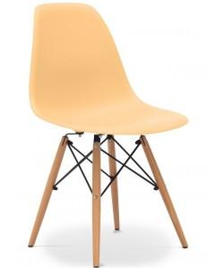 Silla TOWER PP, madera, polipropileno color mango