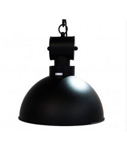 Lámpara DESVÁN, colgante, metal, pantalla negra mate