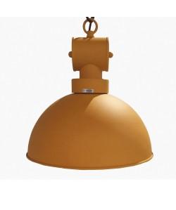 Lámpara DESVÁN, colgante, metal, pantalla naranja mate