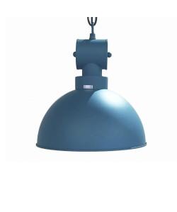 Lámpara DESVÁN, colgante, metal, pantalla azul turquesa mate