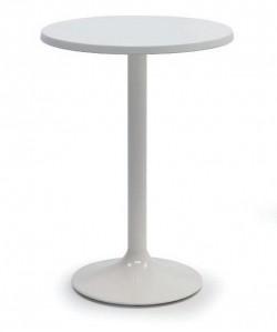 Mesa CRISS, alta, blanca, tapa de 60 cms diámetro.Color a elegir