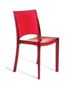 Silla BIN, policarbonato rojo rubí transparente*