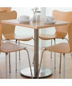 Mesa VOLGA, acero inoxidable, tapa 70 x 70 cms. Color a elegir