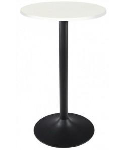 Mesa CRISS, alta, negra, tapa de 60 cms diámetro.Color a elegir