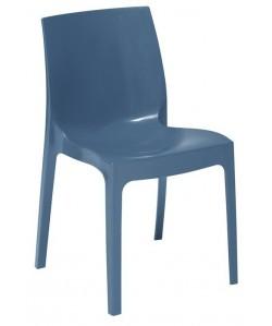 Silla ANTARTIDA polipropileno, azul azafata alto brillo