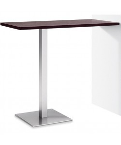 Mesa RHIN, alta, acero inoxidable, tapa 110 x 70 cms. Color a elegir
