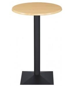 Mesa DANUBIO, alta, negra, tapa de 60 cms. Color a elegir