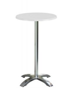 Mesa MILAN, alta, aluminio, tapa 60 cms. Color a elegir