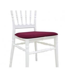 cojín de asiento para Sillas WEDDING y CHIAVARI NEW, color burdeos
