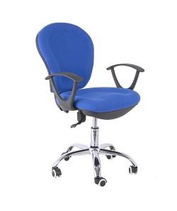 Silla de oficina RIMINI, brazos, gas, contacto permanente, tejido azul