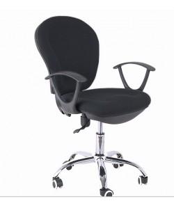 Silla de oficina RIMINI, brazos, gas, contacto permanente, tejido negro