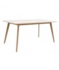 Mesa KENIA, madera, lacada blanca, 160 x 90 cms