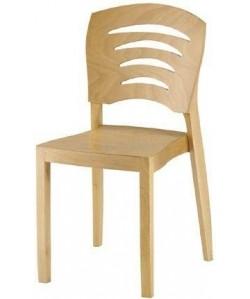 Silla de madera de haya CORBA, asiento madera barnizada color natural.