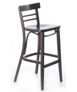 Taburete RISTO, de madera de haya, asiento madera, barnizado