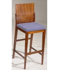 Taburete VISO, madera de haya, barnizado, tapizado a elegir
