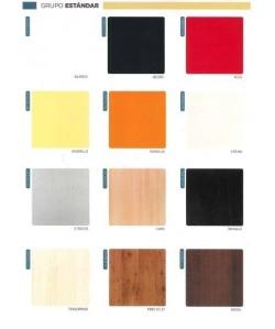 Tablero de mesa Werzalit serie Estándar de 70X70 cms.