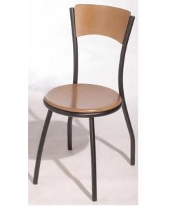 Silla de hostelería EVO, color a elegir, asiento y respaldo madera
