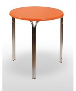 Mesa de aluminio CASAS 2, tapa werzalit estándar 80 cms.