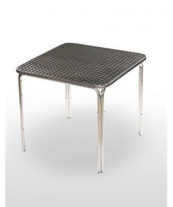 Mesa de aluminio PULCO, tapa inoxidable 60x60 cms.