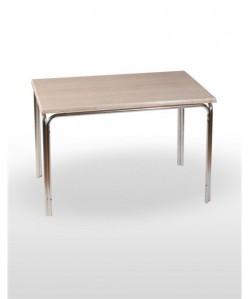 Mesa de aluminio PULCO, tapa werzalit estándar 120x80 cms.