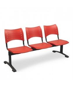 Bancada Acuario, 4 plazas, asiento y respaldo PVC.