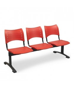 Bancada Acuario, 5 plazas, asiento y respaldo PVC.