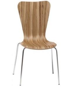 Silla 0652075, cromada, madera - color a elegir