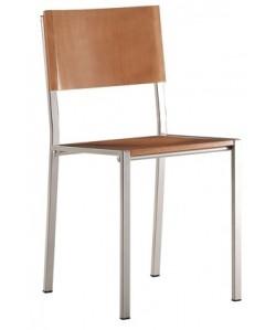 Silla 065435 , asiento y respaldo de madera. - color a elegir