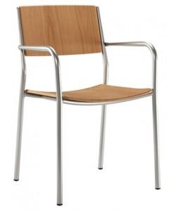 Sillón 06511945,aluminio bicapa, asiento y respaldo en polipiel- color a elegir