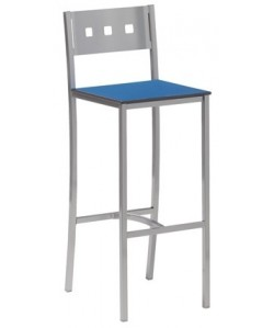 Taburete multiusos 0655775, epoxi aluminio, asiento en compacto
