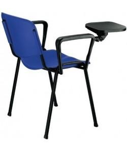Silla NIZA, brazos y pala, chasis negro, asiento y respaldo plástico (3 colores a elegir)