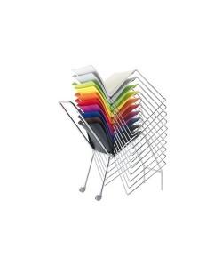 Silla de diseño, Mod. PULL, patín, apilable, polipropileno, 9 colores a elegir.*
