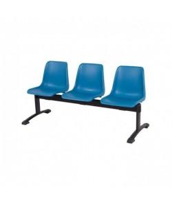 Bancada CARCASA, 3 asientos, polipropileno (3 colores a elegir)