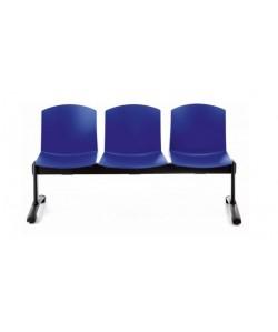 Bancada PULL, 3 asientos, carcasa polipropileno ( 9 colores a elegir)