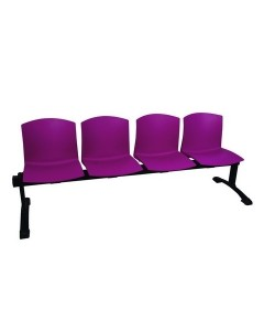 Bancada PULL, 4 asientos, carcasa polipropileno ( 9 colores a elegir )