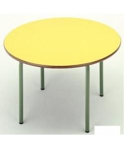 Mesa redonda 206, de 90 cms. de diametro, altura 54 cms.