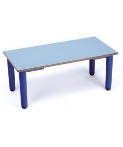 Mesa rectangular 407, de 120X60 cms, altura 46 o 52 cms.